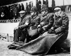 Police watch from the touchline at White Hart Lane
